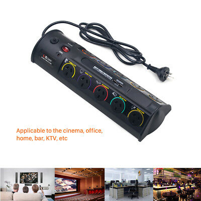 Conserve Switch AV 10 Way Smart Power Board Surge Protector with USB Charging