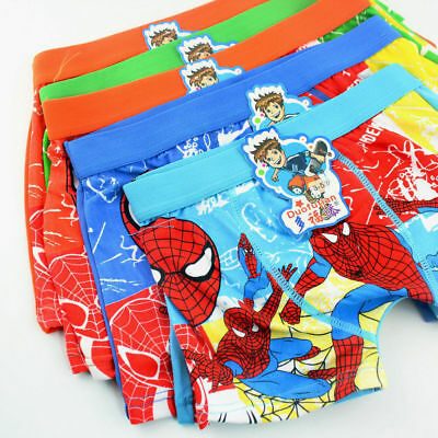 Spider-Man Boys Children Underwear Cartoon Cotton Panties Boxer Brief Kids Short