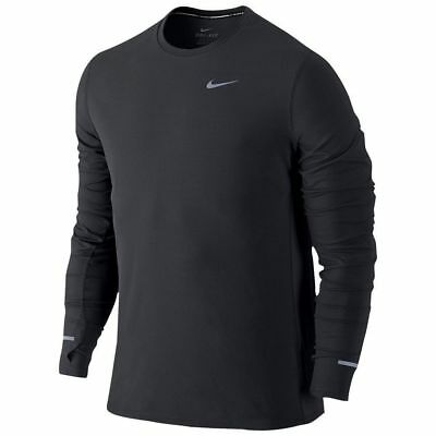 Nike Dri-Fit Contour Long Sleeve Running Shirt Black (683521 010) Men's Sz. XL
