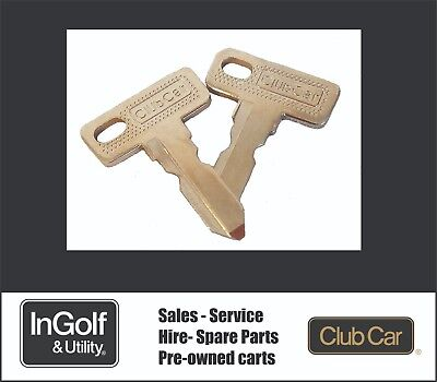 Genuine Club Car Golf Cart Buggy Ignition Keys (Set Of 2) 1012505