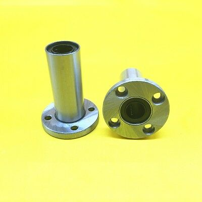1Pcs Long Round Flange Linear Motion Bushing Ball Bearing LMF6LUU For 6mm Shaft