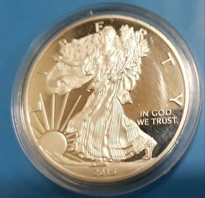 NEW 2015 Silver Plated Eagle 29.7 Grams Silver Plated Novelty Fantasy Issue Coin