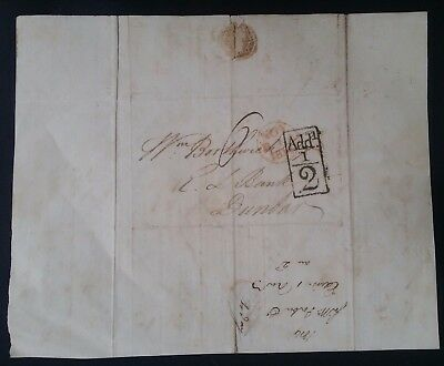 "SCARCE 1814 Great Britain Folded letter from Edinburgh to Dunbar ""Add 1/2"""