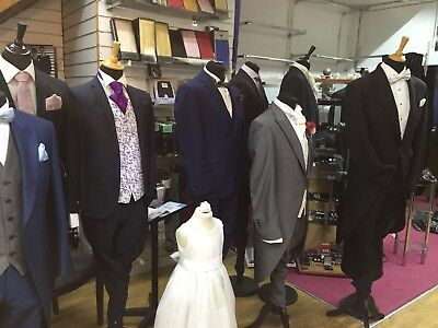 Wedding Hire Business Stock Suits Shoes, Bridal , Dresses,, F&F 2000+ Items !