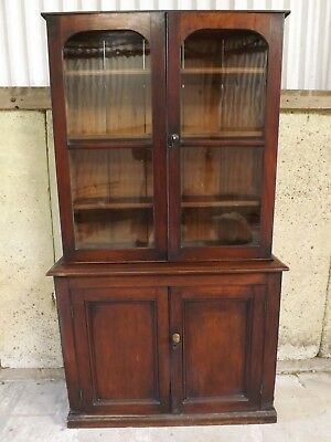 Victorian mahogany glazed dresser. 125 cm width.  DELIVERY INCLUDED IN PRICE.