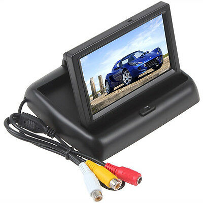 "4.3"" Car Monitor Rear view monitor for Backup Camera DVD,Foldable design"