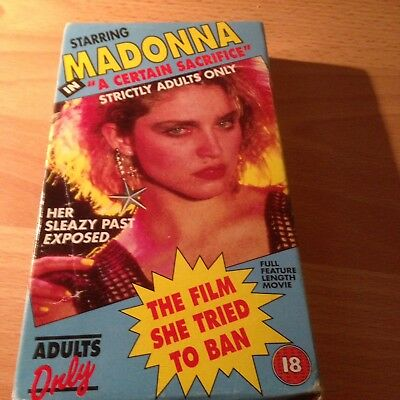 """Very Rare Madonna VHS """"A Certain Sacrifice """" Adults Only!!! 18 See pictures!!"""
