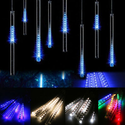 Meteor Shower Fall Star Rain Drop Icicle Snow LED String Light Fairy Xmas Party