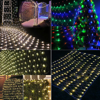 1.5M 2x3m 4x6m LED Christmas Tree Light Mesh Nets Fairy String Lamps Wedding