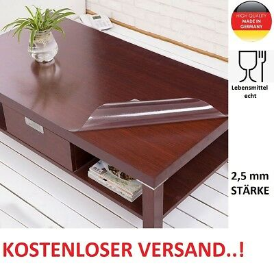 tischfolie tischdecke transparent glasklar tischschutz folie 2 2mm 2 5mm pvc eur 1 90. Black Bedroom Furniture Sets. Home Design Ideas