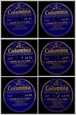 PHILHARM.ORCH. & PAUL KLETZKI Tchaikovsky: Symphony No. 5 in E Minor 78rpm GS868