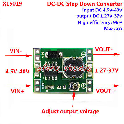 DC-DC Buck Step Down Voltage Mini Converter Board 5V-40V To 3.3V 6V 9V 12V 24V