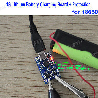 5V MicroUSB 3.7V Li-ion 18650 Lithium Battery Charging Charger Module Protection
