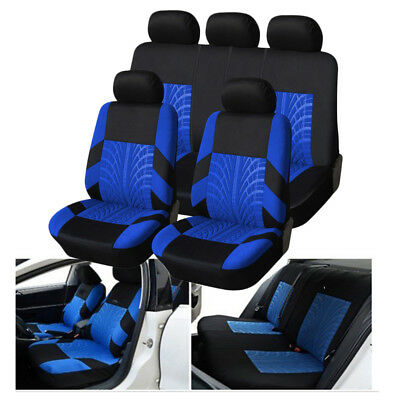 Universal 9 Pcs Car Full Seat Cover Head Front Back Seat Sponge Accessories