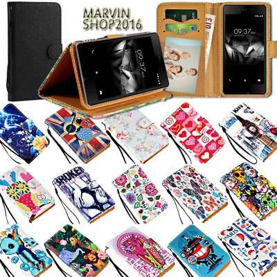 Leather Wallet Stand Magnetic Flip Case Cover For Various Microsoft Lumia Phones