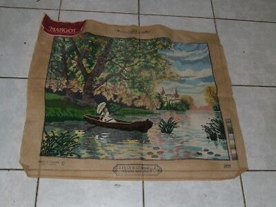 Semco Margot  Tapestry - J.Fille A L'ombrelle - Partially completed