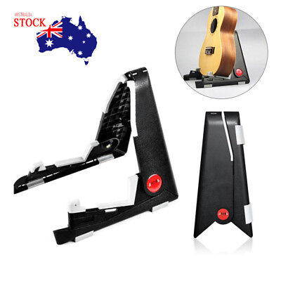 Durable Folding Electric Acoustic Bass Guitar Stand A Frame Floor Rack Holder AU