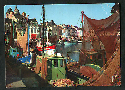LE HAVRE EXIT FISHING BOATS FROM PORT OLD ART PAINTING PRINT 12x16 inch 537OM