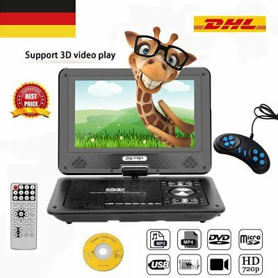 "12""inch Digital TFT Auto Tragbarer Portable CD DVD Player USB SD MP3 Game TV"