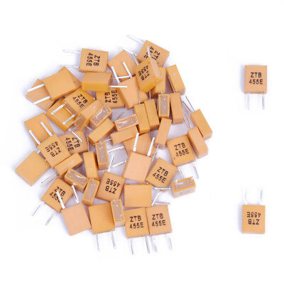 50pcs 455 KHz Ceramic Resonator with 2 pins P5C8