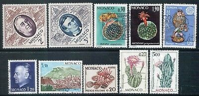 MONACO - Mixed Lot of 10 Stamps Good Used - Mint NH
