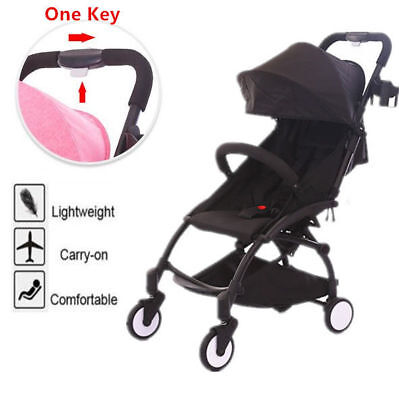 Compact Lightweight Baby Stroller Pram Easy Folding Travel Carry On Plane 5Color