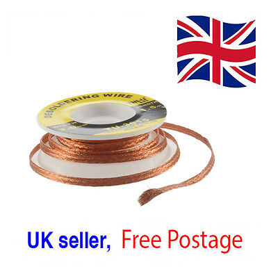 Tni-U Solder Remover Desoldering Braid Wick 3Mm 5 Ft.