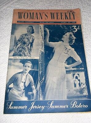 ORIGINAL, VINTAGE, WOMAN'S WEEKLY MAGAZINE, JUNE 27th 1953 ,No.2173 Vol.LXXXlll.