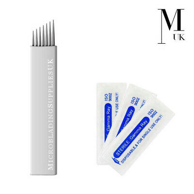 Microblades - Premium Blades for SPMU Microblading Needles Flexible CF / U - UK