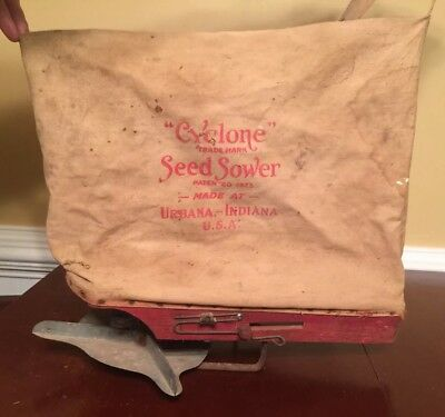 Vintage Cyclone Seed Sower From Urbana, Indiana