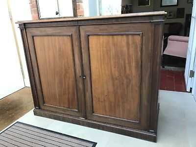 Antique Mahogany Large Storage Cupboard