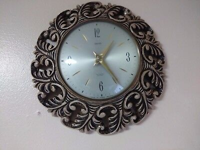 Vintage Smiths Wall Clock Sunburst / Starburst battery,original movement,