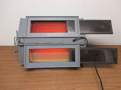 Professional Dual Darkroom Film Processing Photography Safe Light Red Yellow