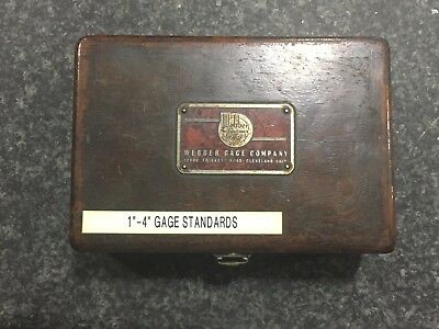 "Webber Gage Company 4pc Gage Block Set, 1""-4"""