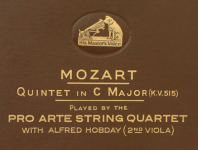 PRO ARTE STRING QUARTET & A.HOBDAY  Mozart: Quintet in C Major K.515  78RPM A294