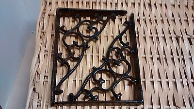1 set of cast iron Antique Style SM Leaves & Vine Garden Shelf Brackets #027-SH