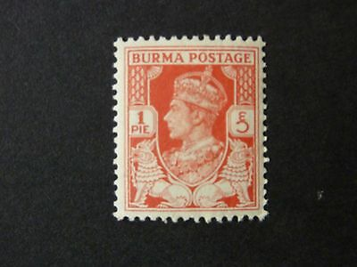 104]  BURMA  STAMP   --  SG 18a 1938 KING GEORGE V1  -- L/M/M