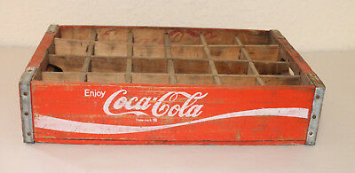 1978 Chattanooga TN Coca Cola Crate Caddy Carrier Advertising Wooden 24 Slot