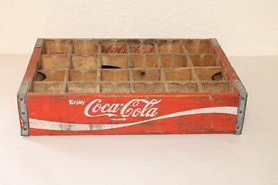 1979 Chattanooga TN Coca Cola Wooden Crate Caddy Carrier Advertising 24 Slot
