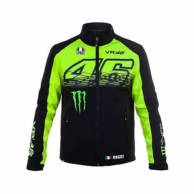 2017 OFFICIAL Moto GP VR46 Valentino Rossi Monster Soft Shell Jacket Coat - NEW
