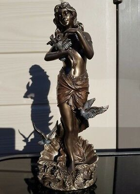 Art Deco Bronze Finished Girl Statue 11''