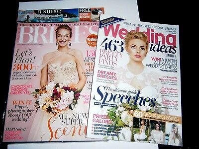 Wedding Ideas Magazine Oct & Conde Nast Brides Magazine Sept/Oct  2017 (new)