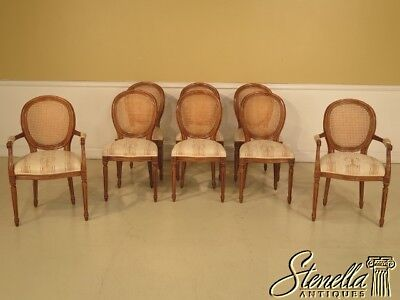 L29233:Set Of 8 French XV Style Cane Back Dining Room Chairs