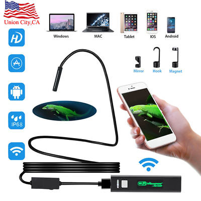 8 LED Wireless Endoscope WiFi HD1200P Snake Inspection Camera for Android iPhone