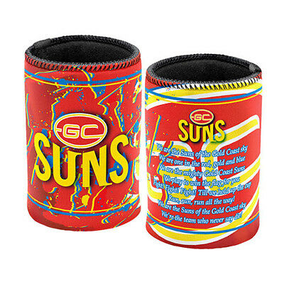 Gold Coast Suns AFL Official Team Song Can Cooler 2pk Stubby Holder Footy