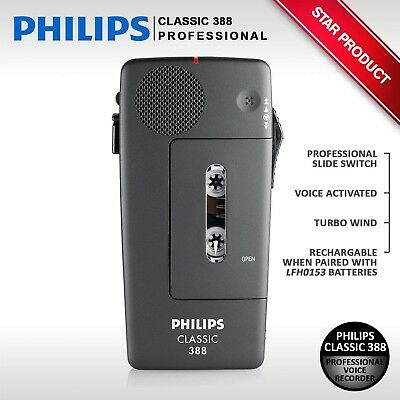 PHILIPS CLASSIC 388 LFH0388 Professional Pocket Memo Voice Recorder Dictaphone