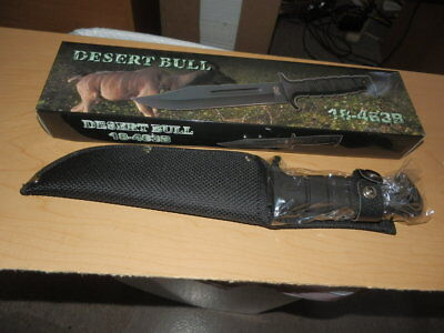 """12"""" BLACK Kabar Style Military Marine Tactical Survival Knife with Sheath NEW"""