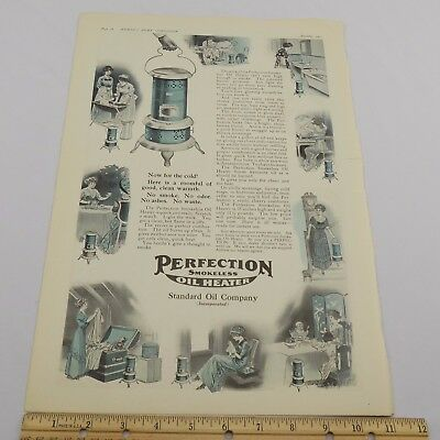 VTG 1911 Ladies' Home Journal Advertisement Perfection Oil Heaters