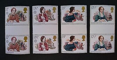 Gb Um Commemorative Stamp Gutter Pairs - Famous Authoresses - 9.7.80
