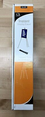 """Quartet Black Instant Display Easel Compact Size for Briefcase 64"""" tall. 29E"""
